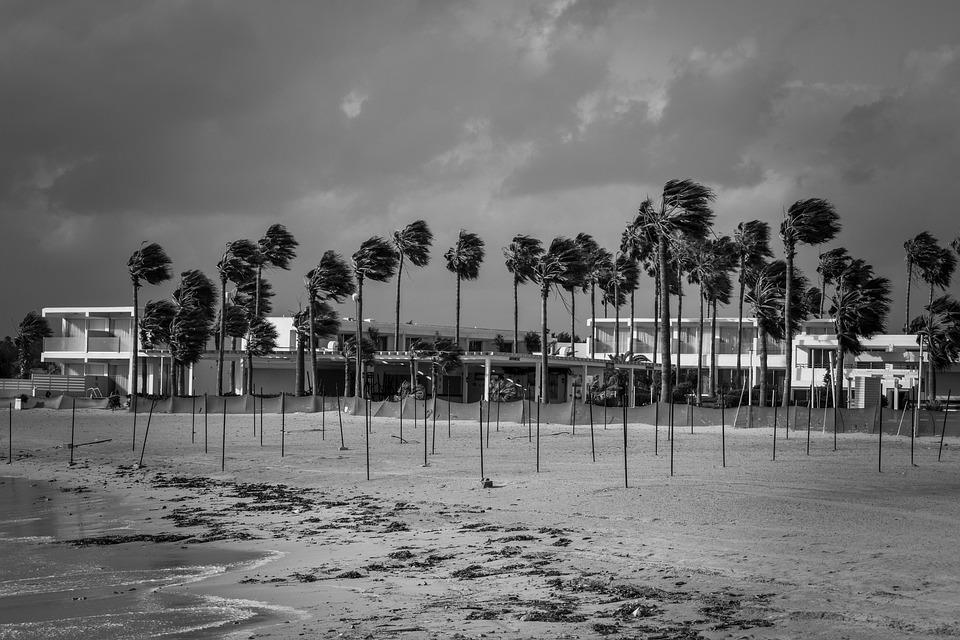 Beach, Winter, Stormy Weather, Empty, Season, Scenery