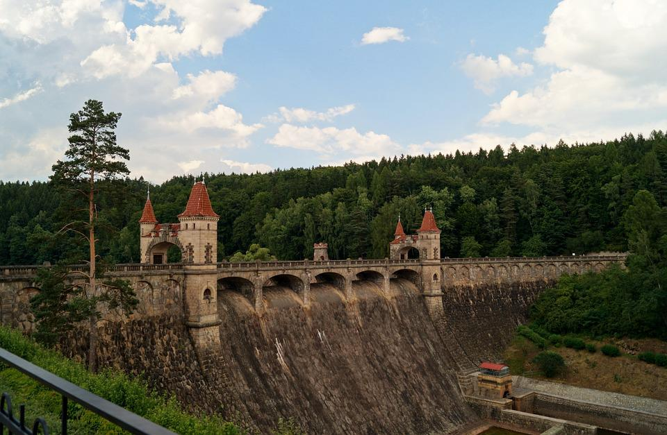 Dam, Bridge, Towers, Czech Republic, Story, Kingdom