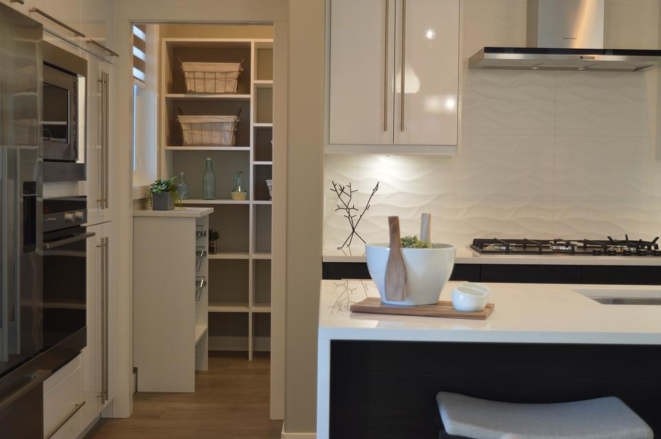 Kitchen, Pantry, House, Home, Room, Modern, Stove