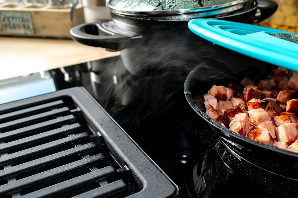 Stove, Kitchen, Cook, Pot, Pan, Fry