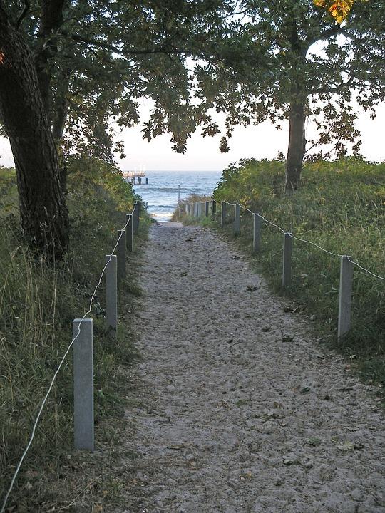 Strandweg, Sand, Sea, Away, Coast, North Sea