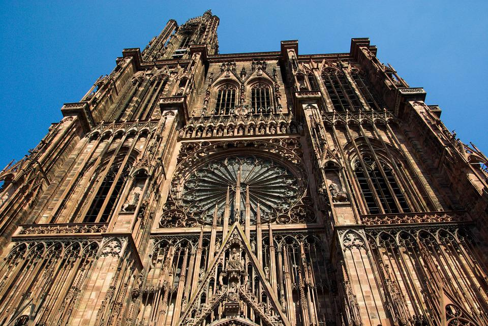 Strasbourg, Cathedral, Gothic, Middle Ages