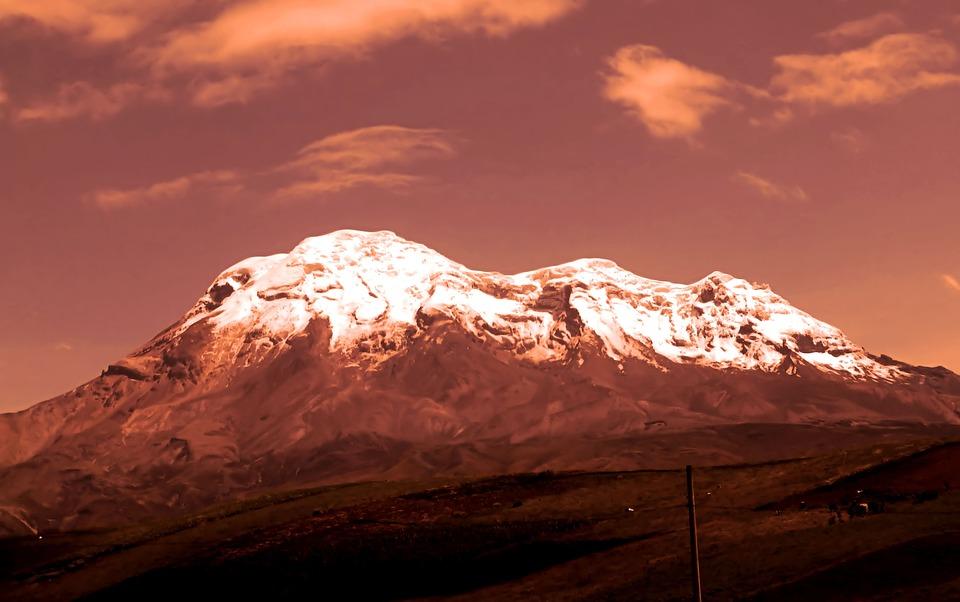 Mountain, Top, Volcano, Stratowulkan, Ecuador