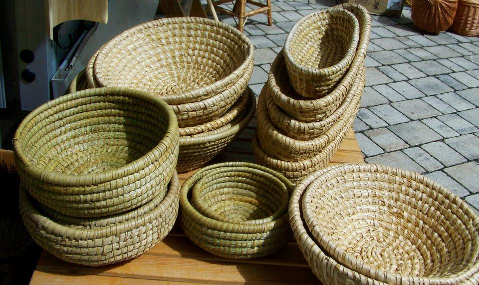 Straw Basket, Wicker Basket, Handmade Product