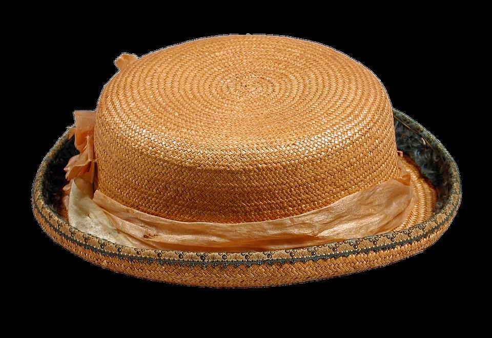 Straw Hat, Boys, Pork-pie Hat, Vintage, Antique