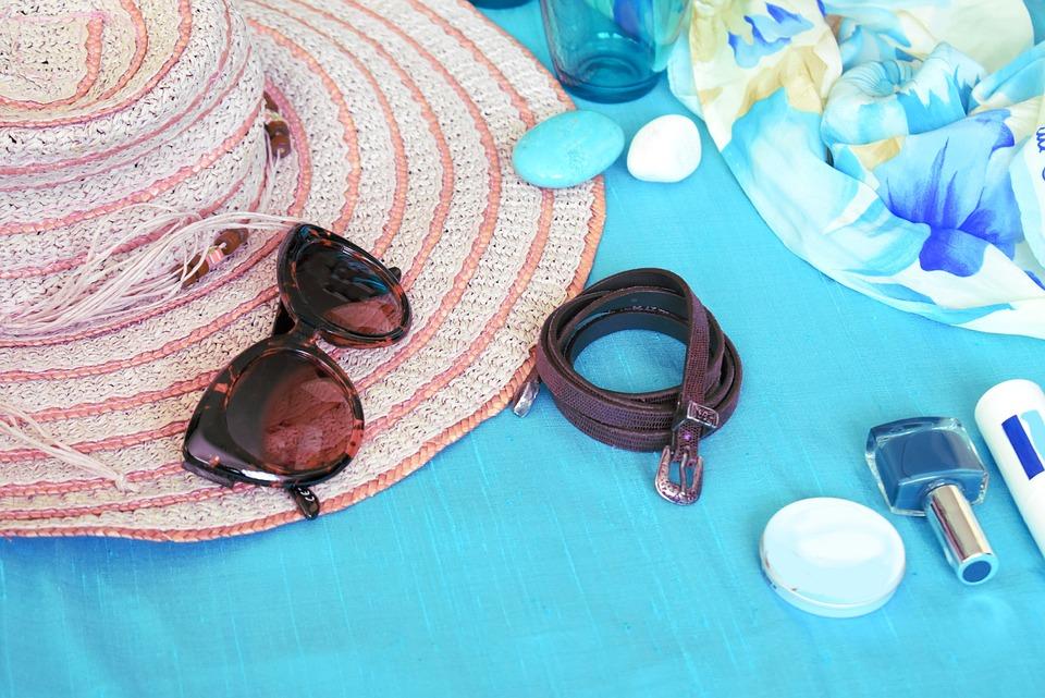 Summer, Hat, Straw Hat, Beach, Beach Hat, Sunglasses