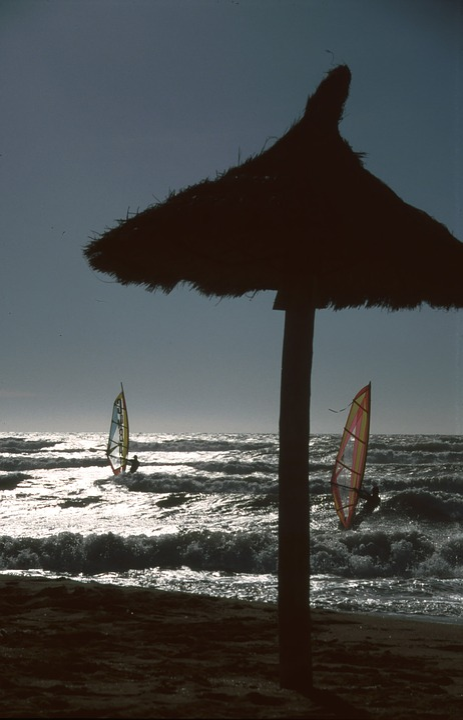 Surfer, Sunset, Straw Screen, Sea