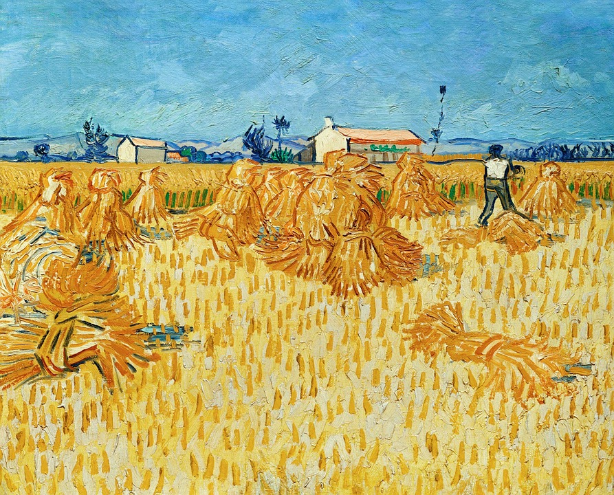 Vincent Van Gogh, Harvest, Straw, Hay, Fieldwork, Farm