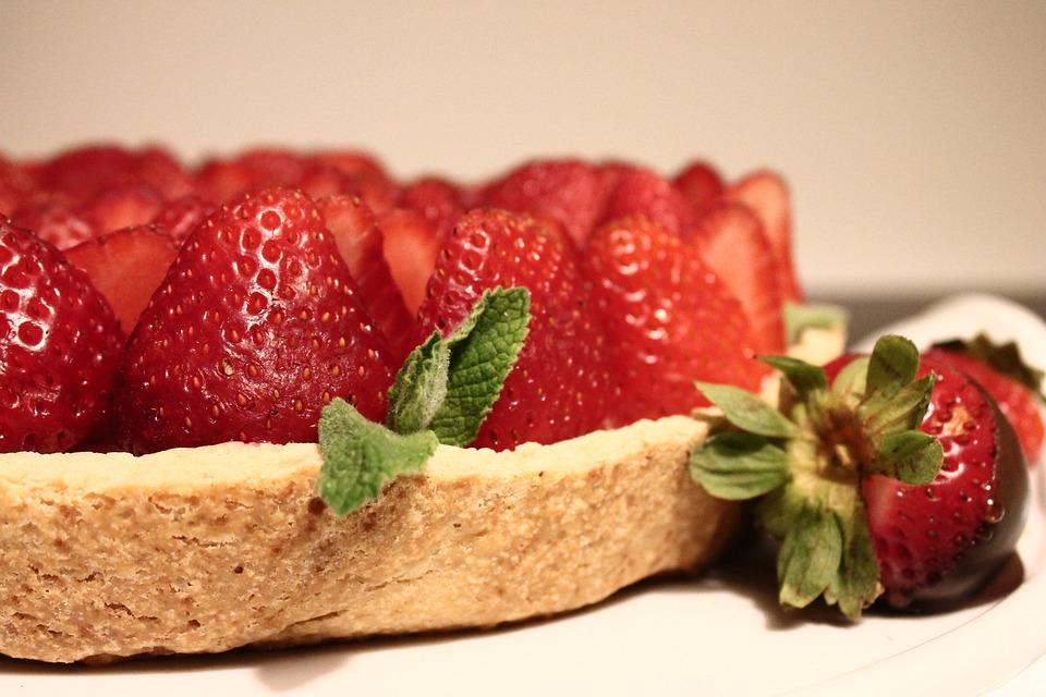 Strawberries, Cakes, Desserts