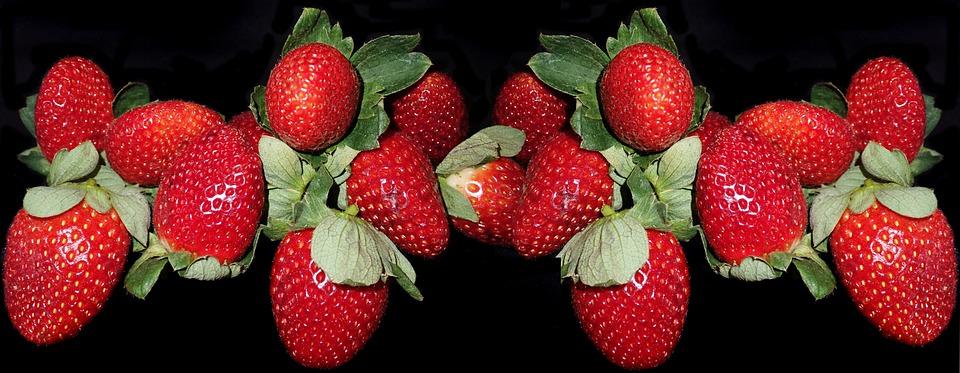Fruit, Strawberries, Fresh, Dessert, Healthy, Food