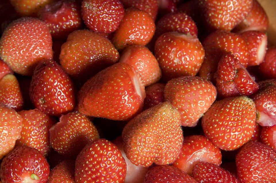 Strawberries, Red, Market, Delicious, Fruits, Sweet