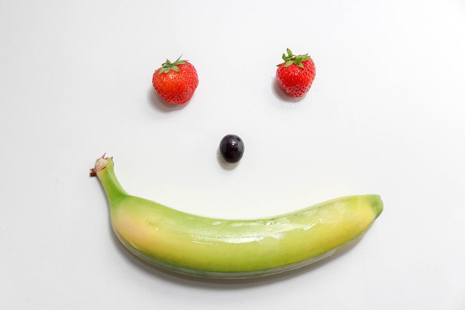 Happy, Face, Strawberries, Grapes, Pineapple, Grape