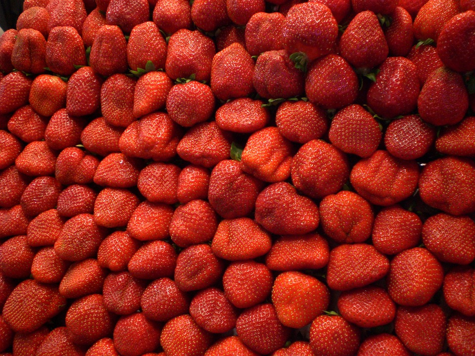 Strawberries, Market, Red, Delicious