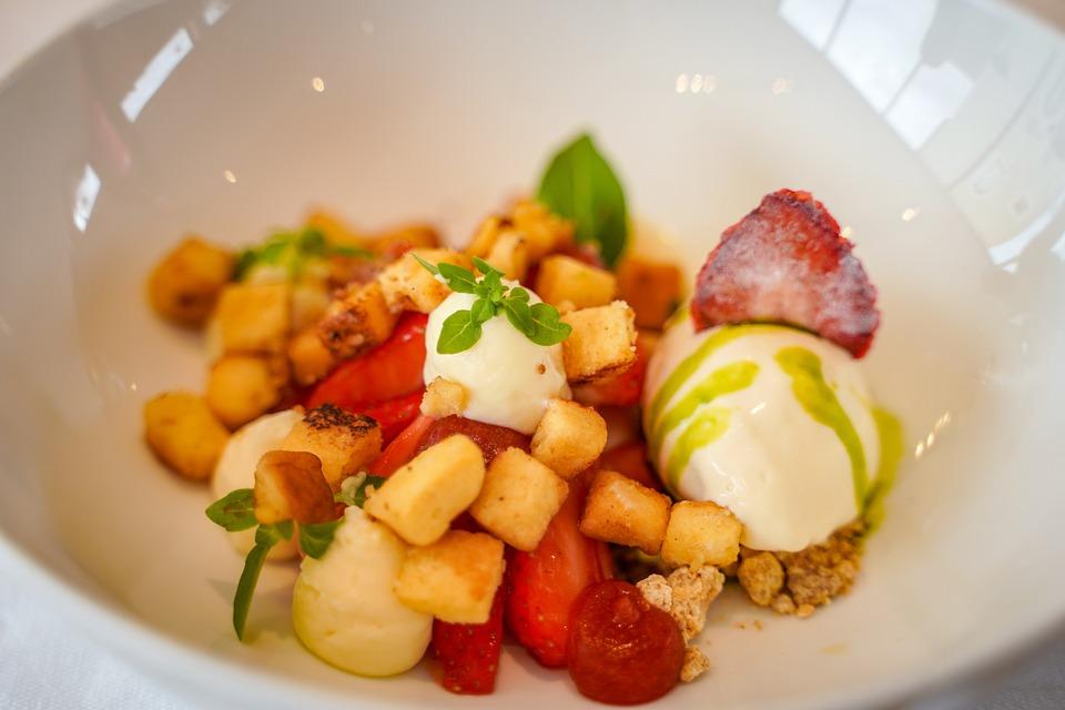 Strawberries, Salad Of Strawberries, Basil
