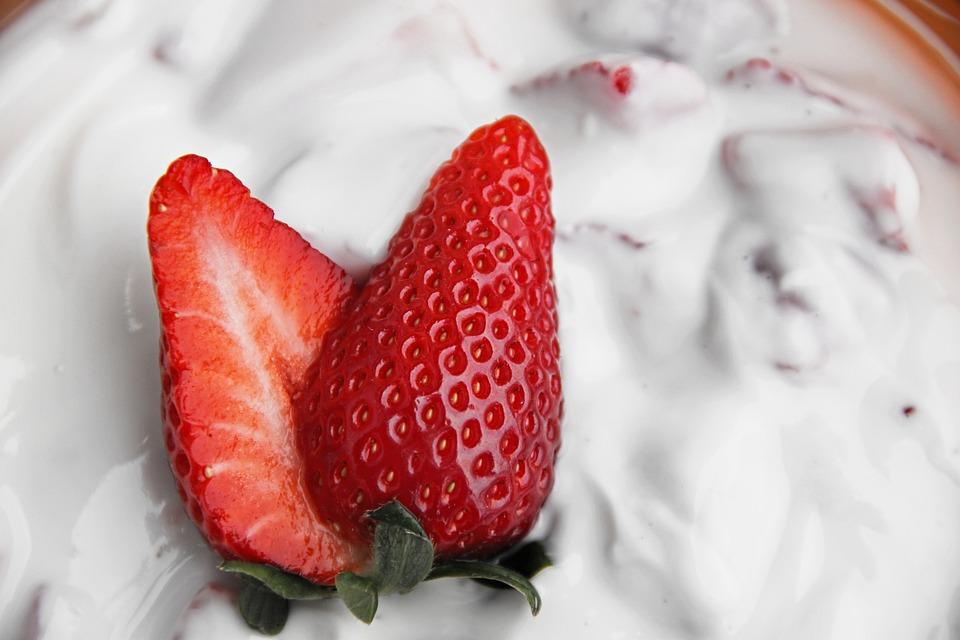 Strawberry Quark, Strawberry Food, Strawberries, Red
