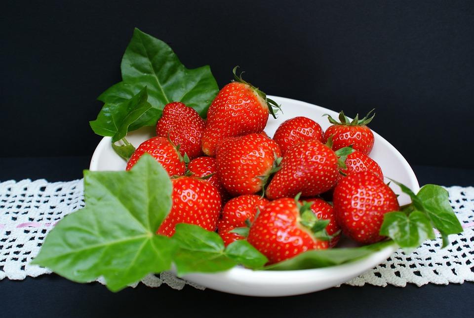 Strawberries, Sweet, Jam, Cake