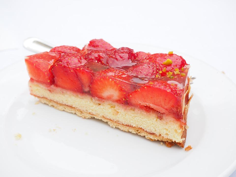 Cake, Strawberry Cake, Piece Of Cake, Strawberries