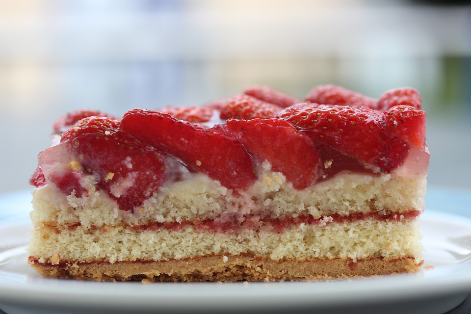 Strawberry Sections, Strawberry Cake, Piece Of Cake