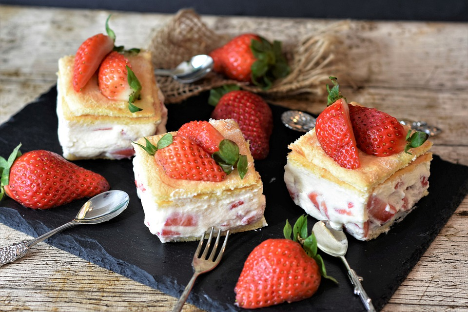 Cake, Strawberries, Strawberry Shortcake