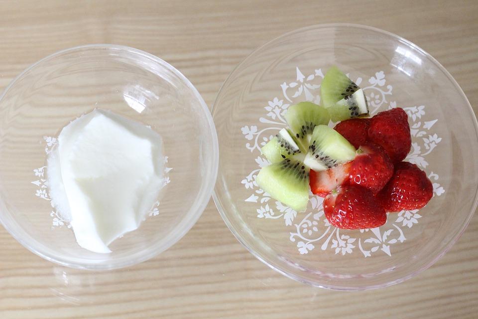 Yogurt, Suites, Strawberry, Food, Fruit, Sweet