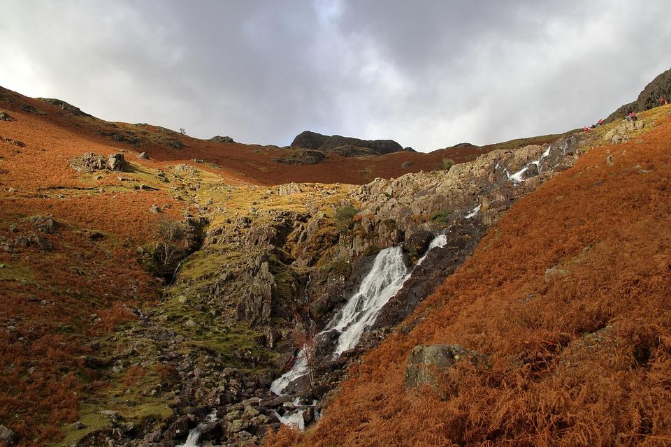Waterfall, Cumbria, Lake District, England, Stream