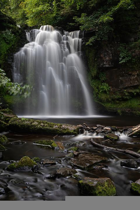Waterfall, Nature, River, Landscape, Stream