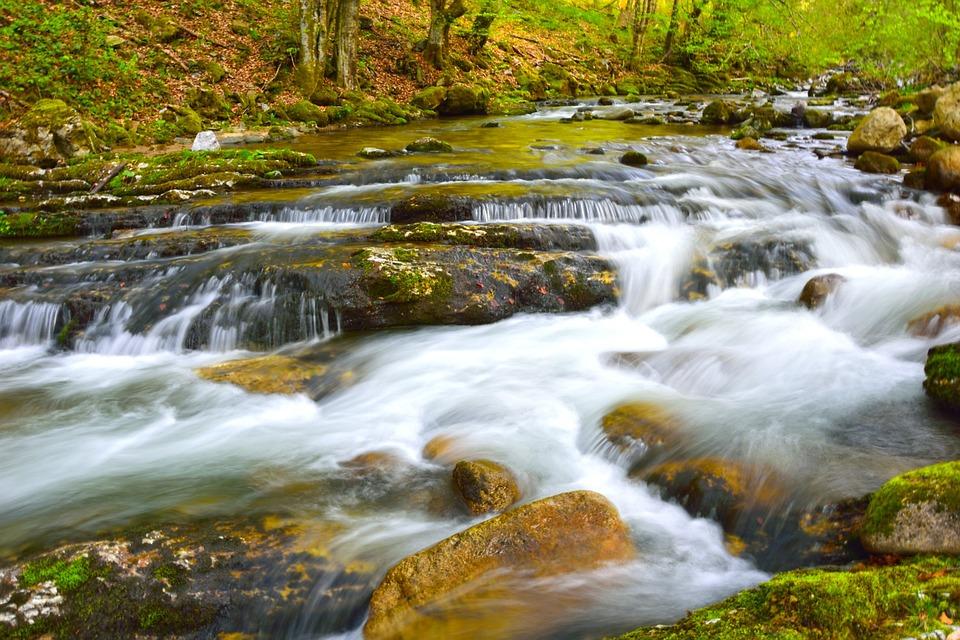 Water, Stream, Nature, River, Waterfall