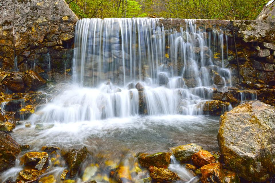 Waterfall, Water, Stream, Nature, Cascade