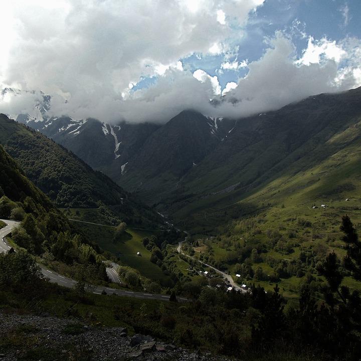 The Pyrenees, Mountains, Streamer, Mountain, France
