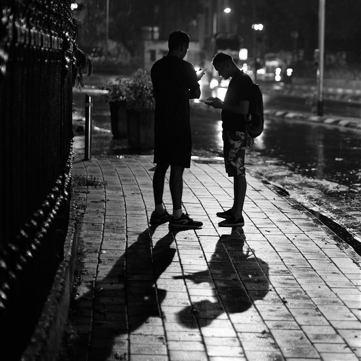 People, Street, Monochrome, Pavement, Man, Adult, City