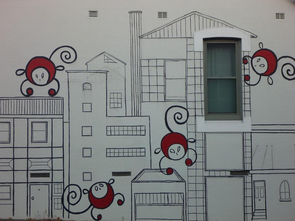 Graffiti, Street Art, Monkeys, Funky, City