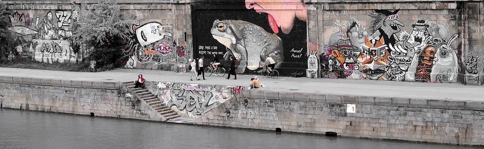 Street Art, Urban Art, Graffiti, Mural, Art, Vienna