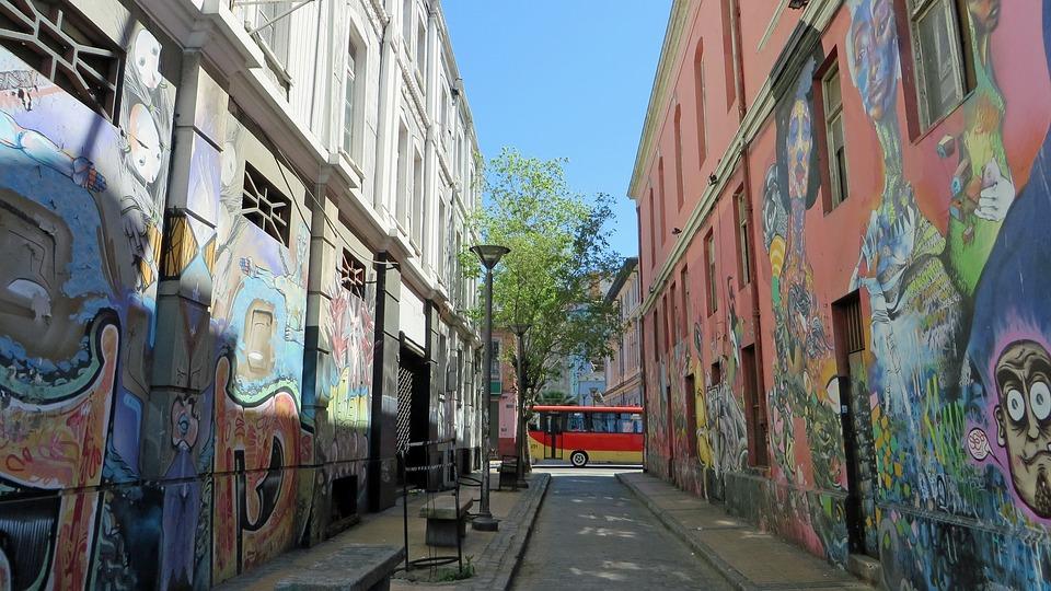 Valparaiso, Port, Street Art, Mural Painting, Chile
