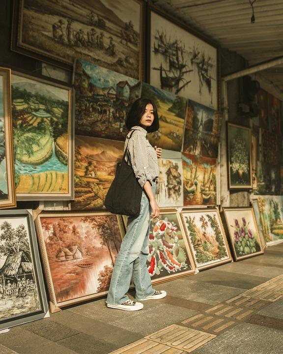 Woman, Model, Street, Paintings, Artwork, Lifestyle