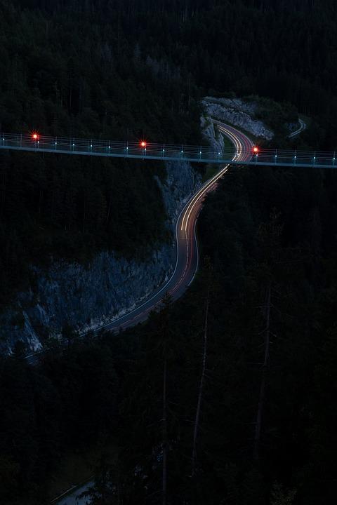 Bridge, Pendant Bridge, Tourism, Street, Ray, Beam