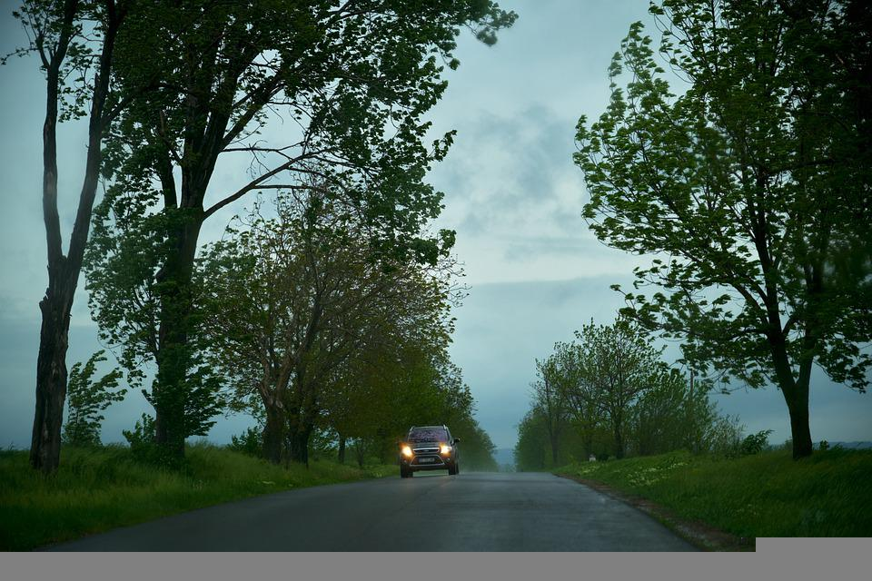 Car, Street, Evening