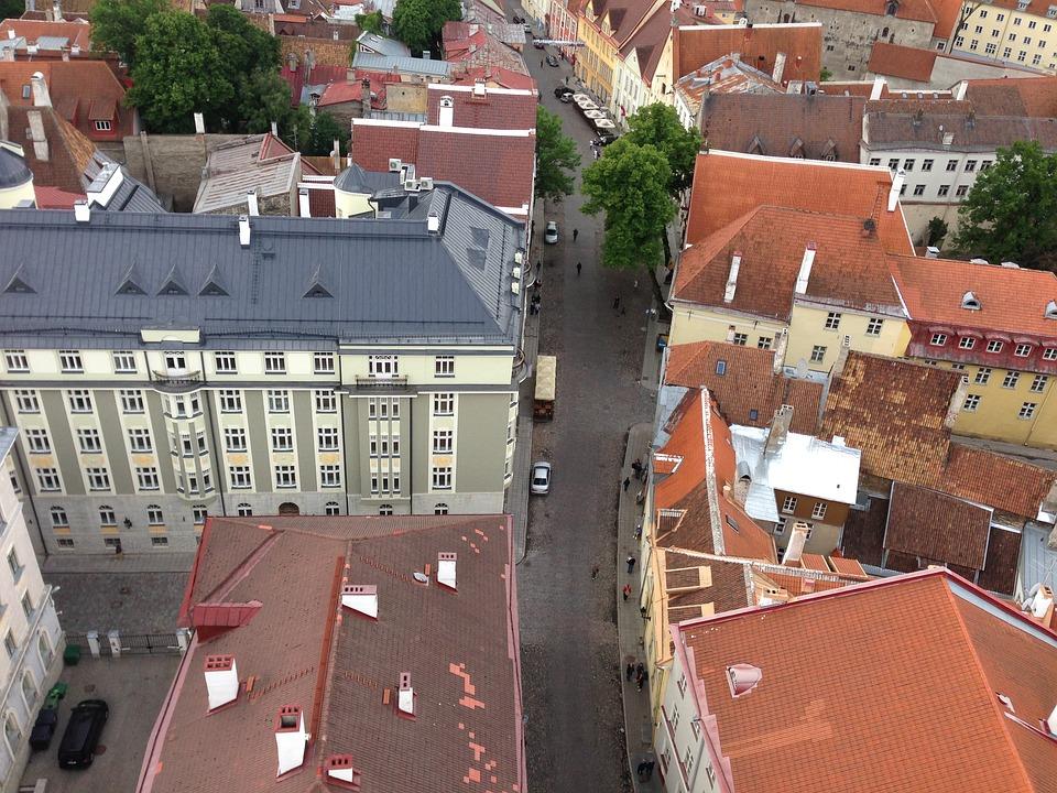Tallinn, City, Street, Cobbles, Estonia, Europe, Baltic