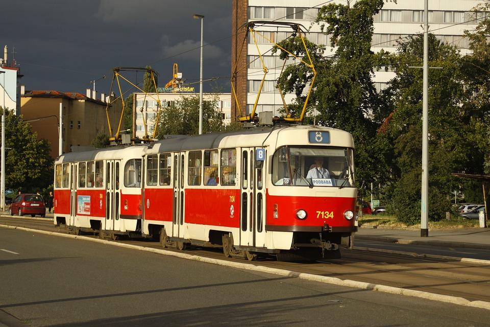 The Tram, Transport, Prague, City, Street