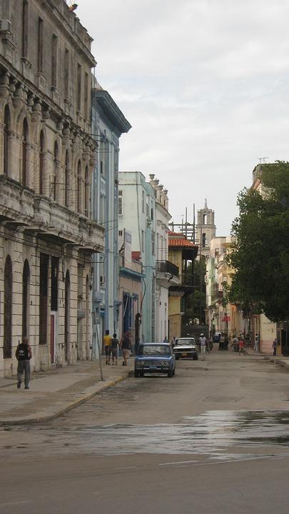 Cuba, Street, City, Architecture, Urban, Buildings