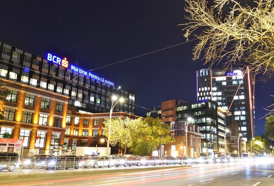 Evening, Urban Traffic, Bucharest, Lights, Road, Street