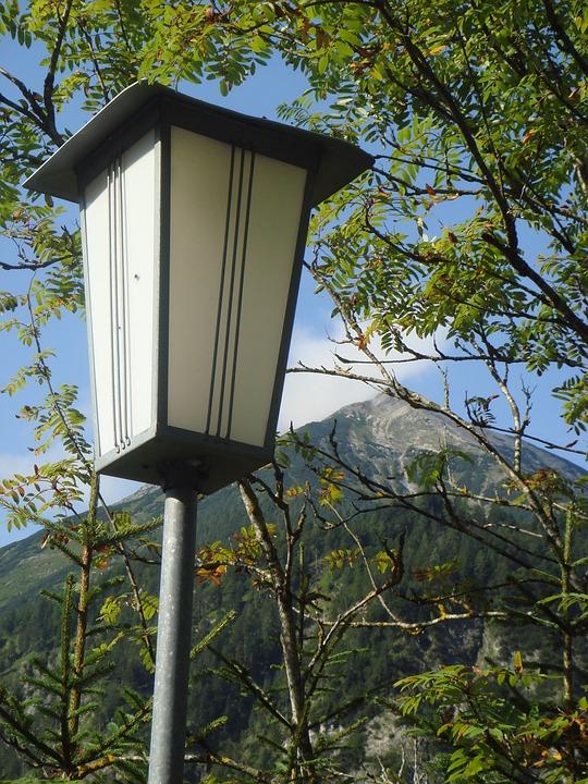 Mountain, Lantern, Landscape, Street Lamp