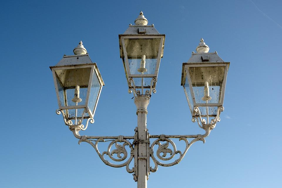 Pole Mounted Luminaire, Lantern, Light, Street Lamp