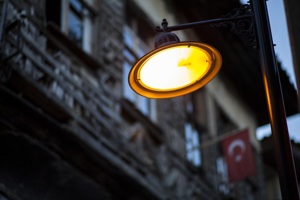 Street, Lamp, Light, Building, Old, Night, Lighting