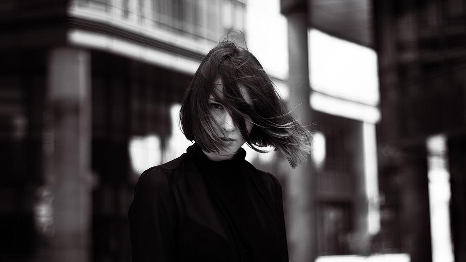 Girl, Woman, Street, Glamour, Portrait, Wind, Model