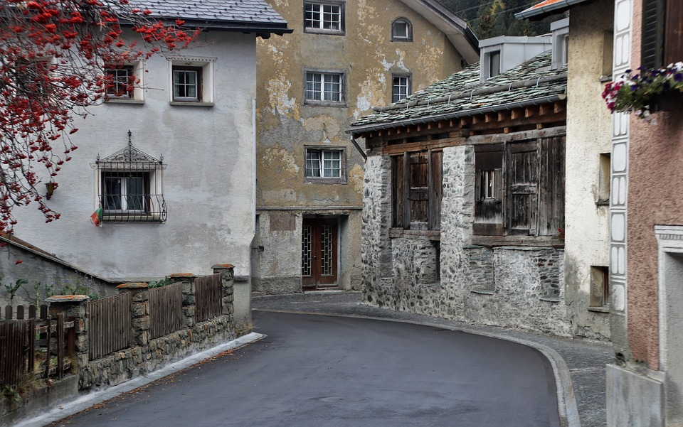 Houses, Old, The Walls Of The, Stone, Building, Street