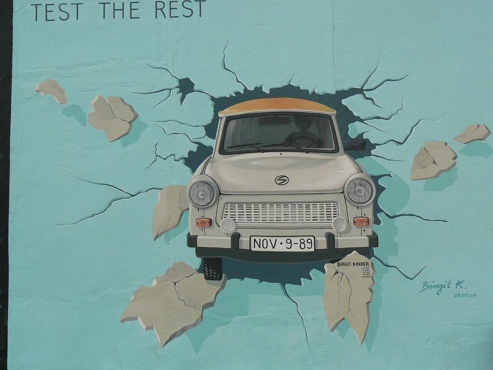 Wall, Berlin, Art, Car, Painting, Street, Berlin Wall