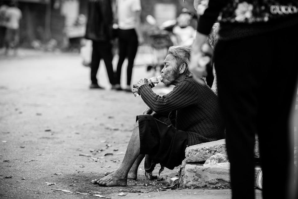 People, Street, Live, Grandmother, Woman