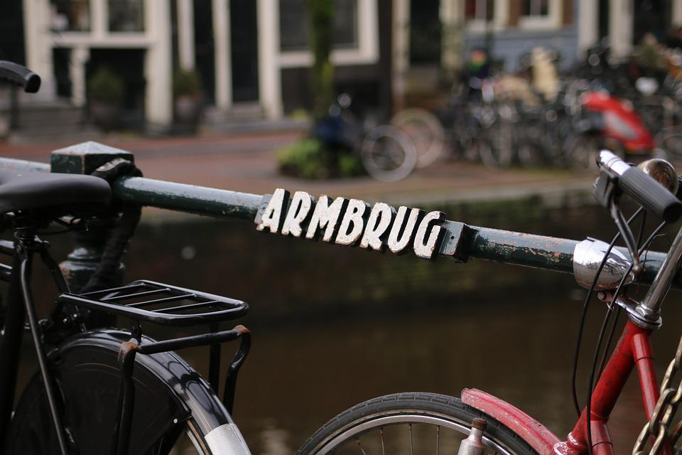 Bridge, Amsterdam, Canal, Bicycle, Street Scene, Center