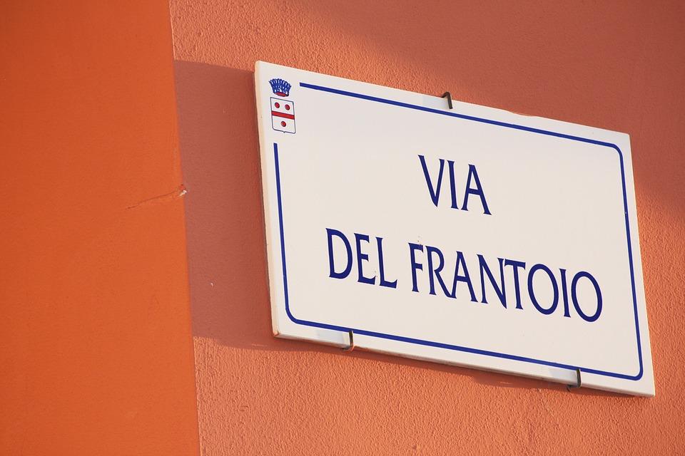 Italy, Rome, Street Sign, Wall