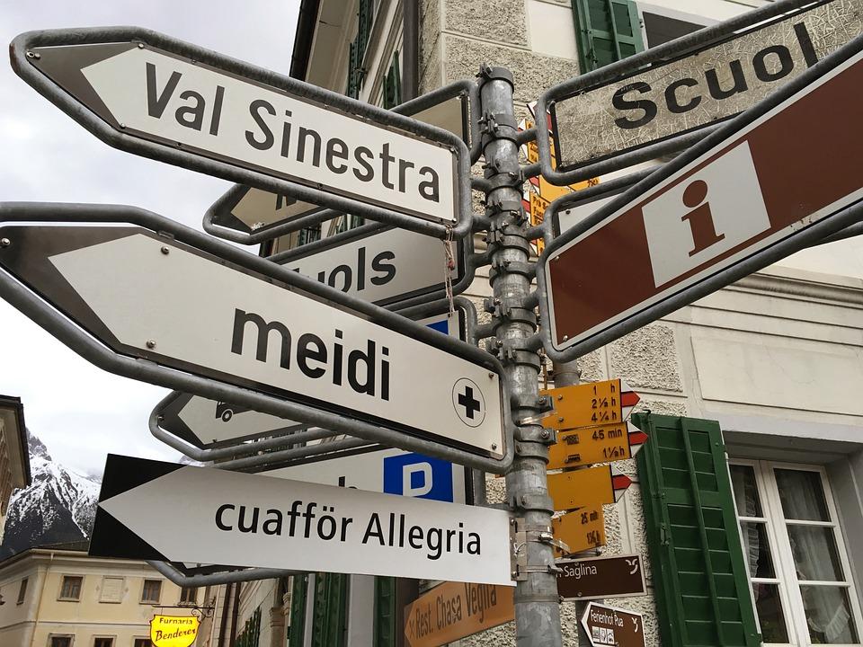 Romansh, Street Signs, Barbers